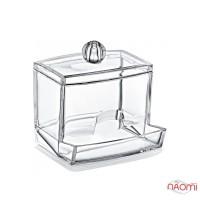 Органайзер для ватных палочек BoxUp FT-004, пластик, 8,8x10,5x6,5 см