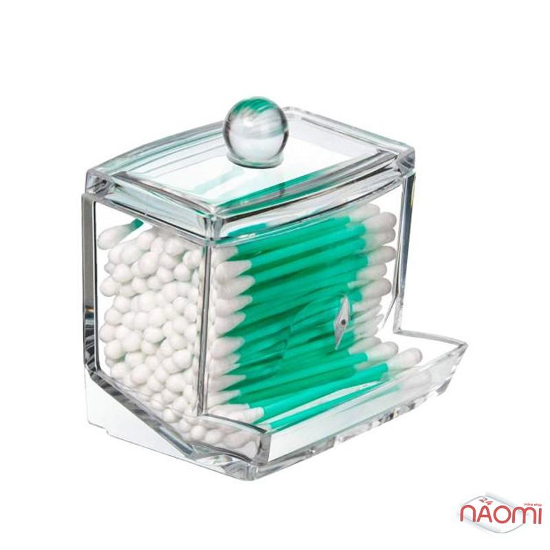 Органайзер для ватных палочек BoxUp FT-004, пластик, 8,8x10,5x6,5 см, фото 2, 65.00 грн.