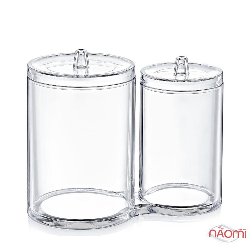 Набор органайзеров из двух цилиндрических банок BoxUp FT-015, пластик, фото 1, 120.00 грн.