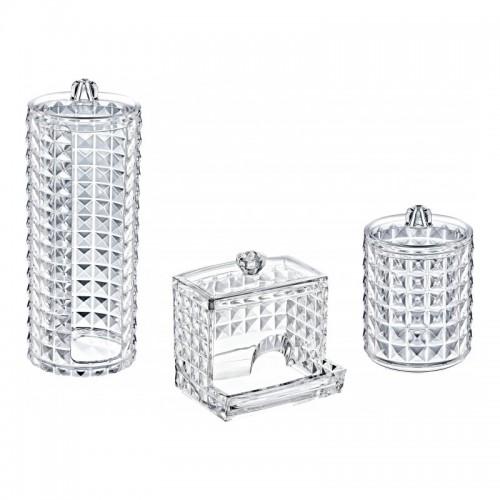 Набор органайзеров для хранения ватных дисков и палочек BoxUp FT-028 Diamond, пластик, 3 шт., фото 1, 170.00 грн.