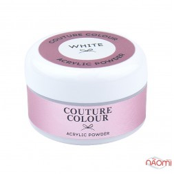 Акриловая пудра Couture Colour Acrylic White Powder, цвет белый, 30 г