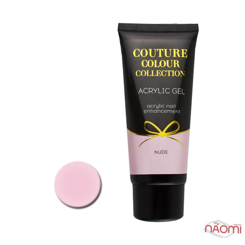 Акрил-гель Couture Colour Acrylic Gel Nude, холодный розовый нюд, 60 мл, фото 1, 850.00 грн.