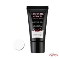 Акрил-гель Couture Colour Acrylic Gel Ultra White, белый, 30 мл