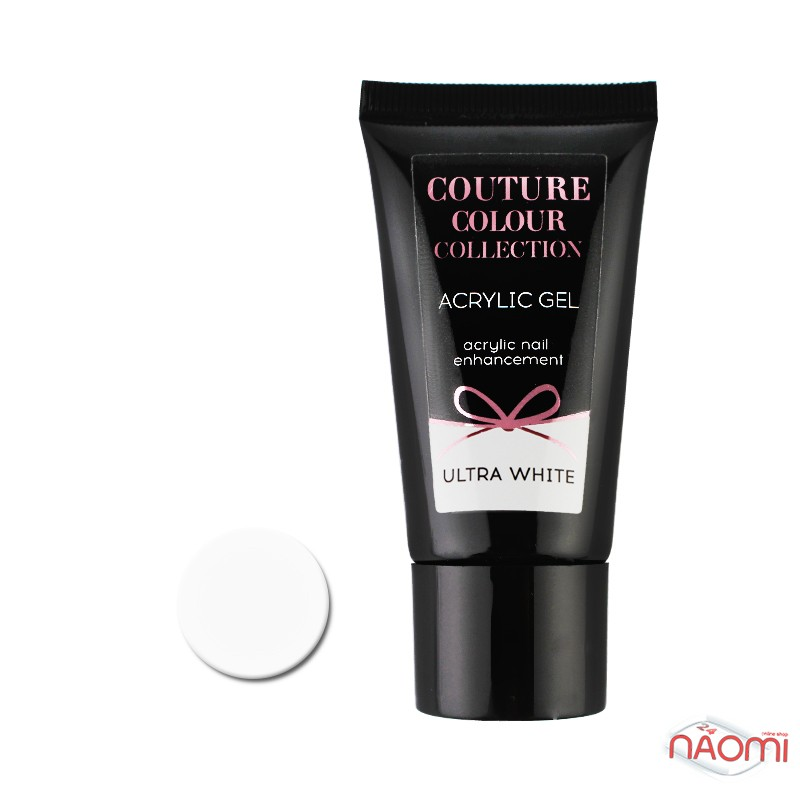 Акрил-гель Couture Colour Acrylic Gel Ultra White, 30 мл, фото 1, 430.00 грн.