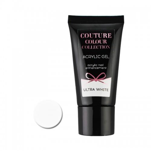 Акрил-гель Couture Colour Acrylic Gel Ultra White, белый, 30 мл, фото 1, 430.00 грн.