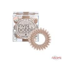 Резинка-браслет для волос Invisibobble ORIGINAL Tea Party Spark, цвет бронза, 3 шт, 30х16 мм
