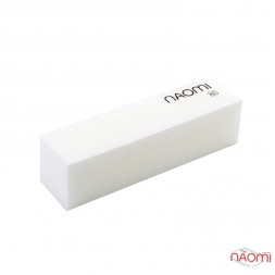 Баф-брусок Naomi 180/180, цвет белый