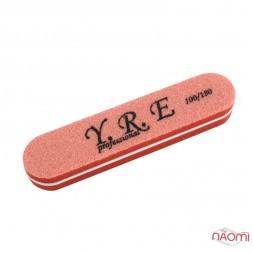 Баф-шлифовщик для ногтей YRE, 100/180, цвет оранжевый