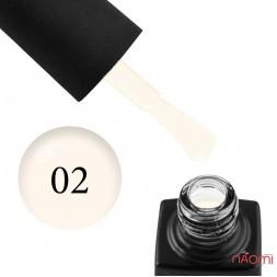 База камуфлирующая каучуковая для геля и гель-лака GO Active Gummy Base Coat №02, Milk, 10 мл