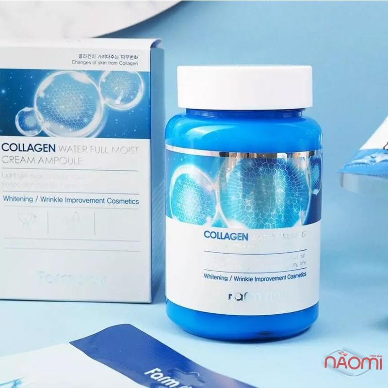 Крем ампульный Farmstay Collagen Water Full Moist Ampoule Cream с коллагеном, 250 мл, фото 2, 312.00 грн.