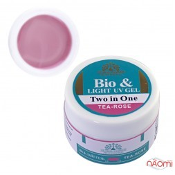 Биогель 2 in 1 Global Fashion Bio&Light UV Gel Tea Rose, чайная роза, 15 г