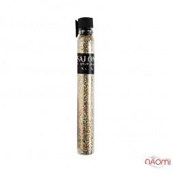 Блестки Salon Professional, размер 008 911, цвет золото с голограммой, в пробирке