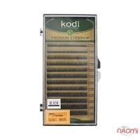 Брови Kodi Professional Natural Curl 0.06 (12 рядов: 4,5,6,7,8 мм), черные