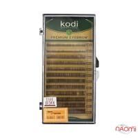 Брови Kodi Professional Natural Curl 0.06 (12 рядов: 4,5,6,7,8 мм), темно-коричневые