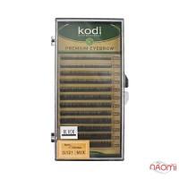Брови Kodi Professional Natural Curl 0.12 (12 рядов: 4,5,6,7,8 мм), черные