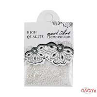 Бульонкі для декорування нігтів Starlet Professional, колір срібло, в пакеті