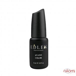 Гель-лак Edlen Professional 014 бордово-сливовый с красными блестками, 9 мл