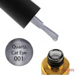 Гель-лак F.O.X Quartz Cat Eye 001, срібло з відблиском, 6 мл