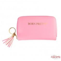 Чехол для пластин и дисков для стемпинга Born Pretty на 24 ячейки, 16х10 см, цвет розовый