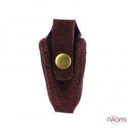 Чехол для профессиональных кусачек на кнопке большой, кожа