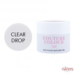 Гель однофазный Couture Colour 1-phase Builder Gel Clear drop, прозрачный, 15 мл