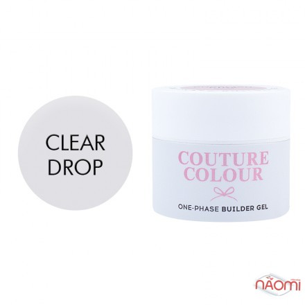 Гель однофазный Couture Colour 1-phase Builder Gel Clear drop, прозрачный, 15 мл, фото 1, 200.00 грн.