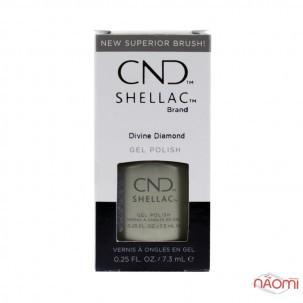 CND Shellac Crystal Alchemy Divine Diamond перламутровый бежевый металлик, 7,3 мл