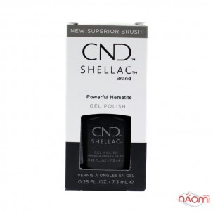 CND Shellac Crystal Alchemy Powerful Hematite темно-серый, 7,3 мл
