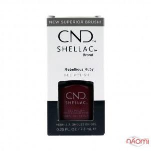 CND Shellac Crystal Alchemy Rebellious Ruby рубіновий з рожевими шимерами, 7,3 мл