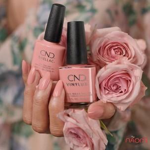 Лак CND Vinylux English Garden 347 Soft Peony теплый кремово-розовый, 15 мл