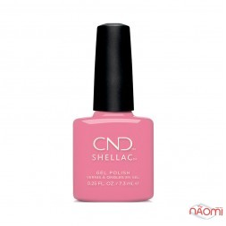 CND Shellac English Garden Kiss From a Rose насыщенный розовый, 7,3 мл