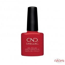CND Shellac Night Moves 288 Kiss Of Fire, красный с золотистыми блестками, 7,3 мл