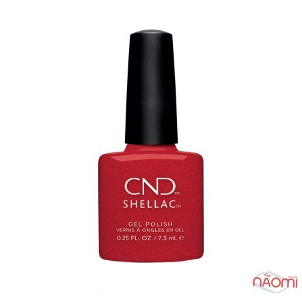 CND Shellac Night Moves 288 Kiss Of Fire, красный с золотистыми блестками, 7,3 мл, фото 1, 339.00 грн.
