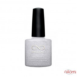 CND Shellac Night Moves 291 After Hours, серебро с блестками, 7,3 мл