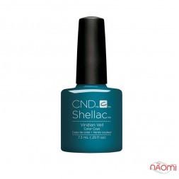 CND Shellac Nightspell Viridian Veil серебристо-изумрудный, 7,3 мл