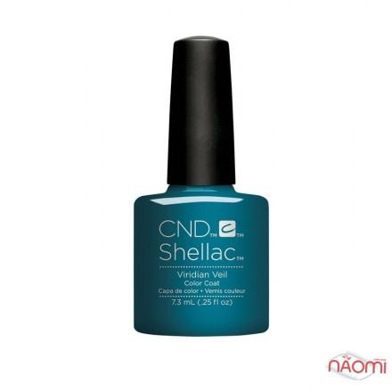 CND Shellac Nightspell Viridian Veil серебристо-изумрудный, 7,3 мл, фото 1, 339.00 грн.