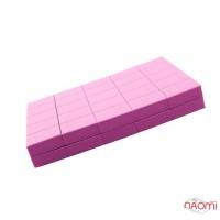 Набір міні-бафів для нігтів Kodi Professional 120/120, в наборі 50 шт., колір рожевий