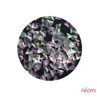 Декор для ногтей TR-3D-25 треугольники (чешуя дракона) в баночке, цвет перламутр