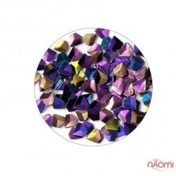 Декор для ногтей KRI-3D-10 кристалл (чешуя дракона) в баночке, цвет темно-фиолетовый