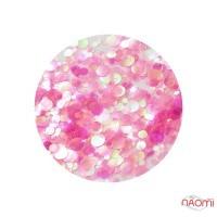 Декор для ногтей конфетти (камифубуки), цвет прозрачно-малиновый