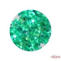 Декор для ногтей конфетти (камифубуки), цвет зеленый