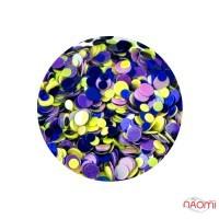Декор для ногтей Naomi конфетти (камифубуки) № 06, 1 г