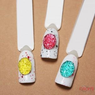Декор для нігтів, різнокольорові камінці, колір жовтий, рожевий, блакитний, 3 шт.