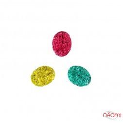 Декор для ногтей, разноцветные камни, цвет желтый, розовый, голубой, 3 шт.