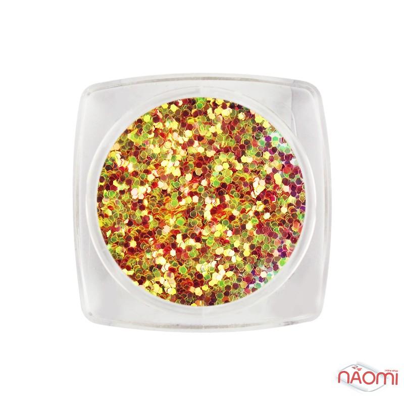 Декор для ногтей Salon Professional Чешуя, цвет розово-салатовый, мелкая, фото 1, 35.00 грн.