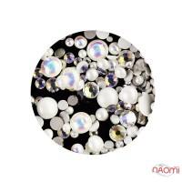 Декор для ногтей Starlet Professional полужемчуг,стразы, цвет белый, перламутр