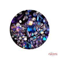Декор для ногтей Starlet Professional стразы, фигурки, цвет фиолетово-синий хамелеон