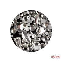 Декор для нігтів Starlet Professional стрази, фігурки, колір срібло