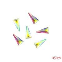 Декор для ногтей Starlet Professional стразы треугольники в баночке
