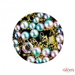 Декор для ногтей Starlet Professional жемчуг, стразы, бульонки, фигурки